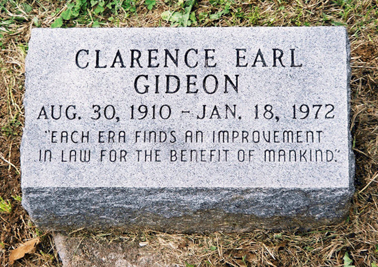 an analysis of the clarence earl gideon case in floridas justice system Conjure up in your mind's eye henry fonda's portrayal of an obscure florida convict named clarence earl gideon in the 1980 made for television movie gideon's trumpet.